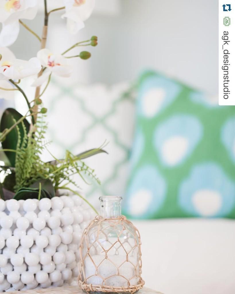 We love this shot of our tozaihome Pompom Ceramic VasePlanterhellip