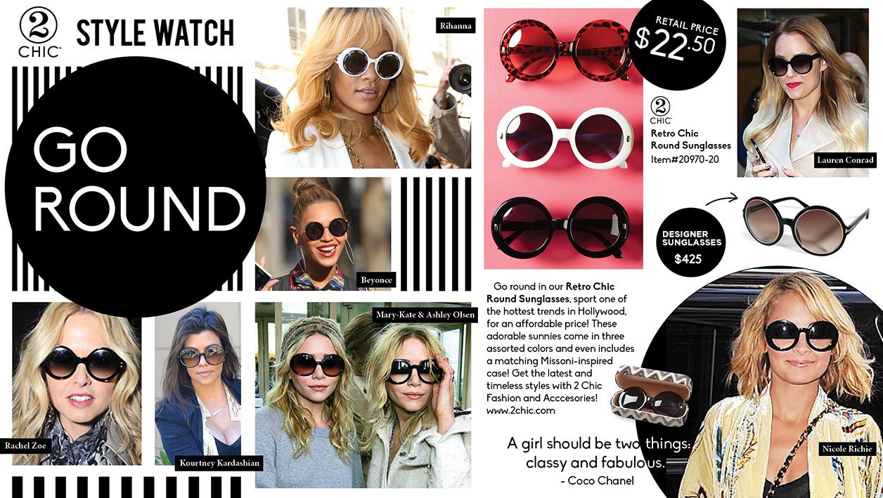 52fd0d0b8 Round Sunglasses Trend