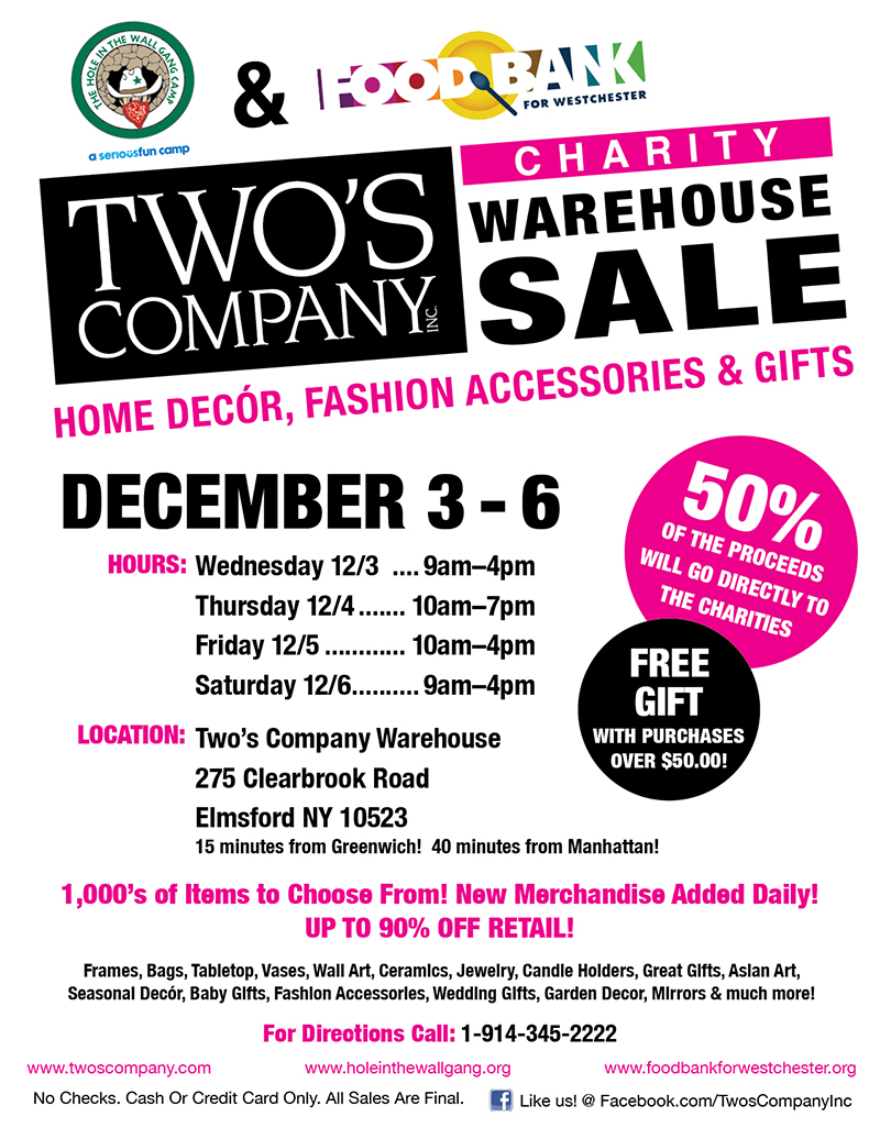 2014 Warehouse Sale Flyer