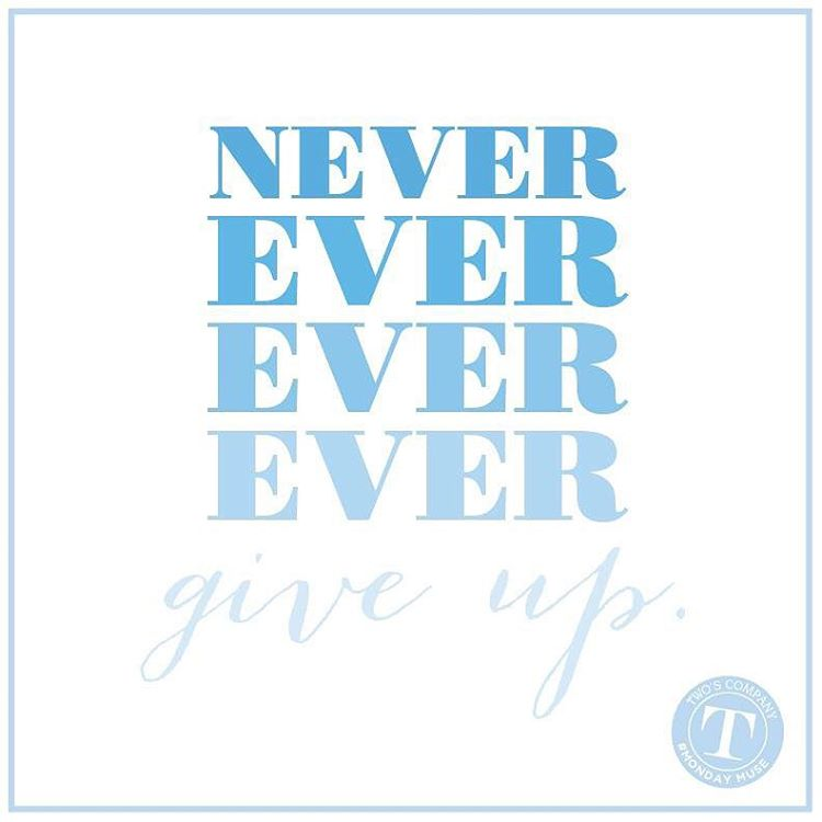 nevergiveup mondaymuse instagood instaquote twoscompany