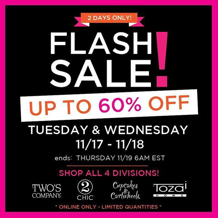 Attention Retailers Flash Sale Starts TODAY! SHOP Twos Company 2hellip