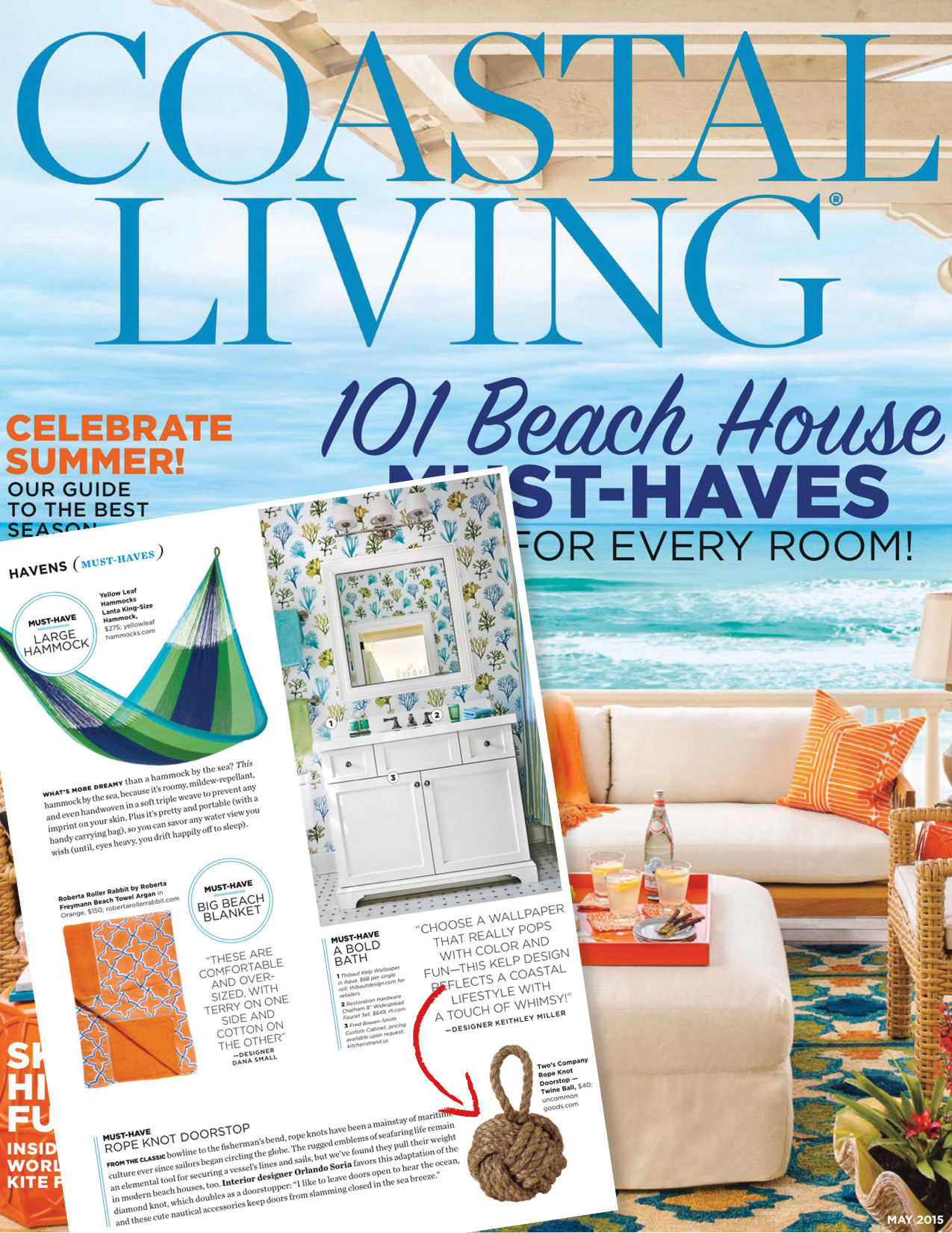 beach must haves- coastal living