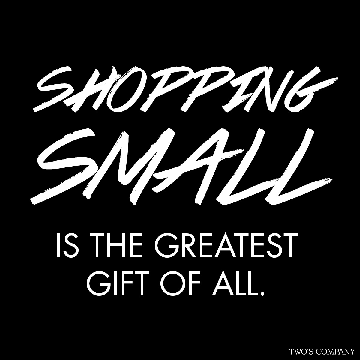 Shopping Small