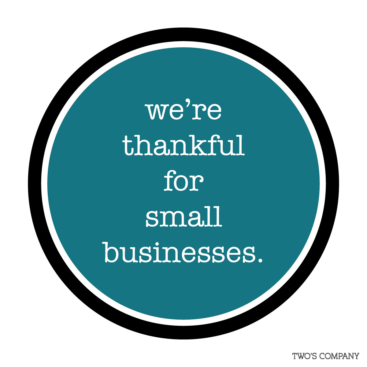 Where thankful for small business