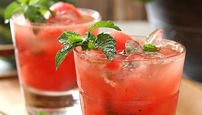 <br>Watermelon Mint Mojitos