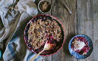 <br>The Best Berry Crisp